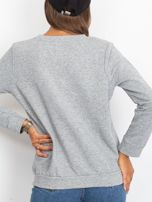 Szara bluza oversize z napisem STAY BEAUTIFUL                                  zdj.                                  3