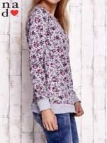 Szara bluza z kwiatowymi motywami                                  zdj.                                  3
