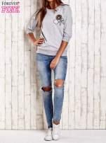 Jasnoróżowa bluza z naszywkami i ściągaczami                                                                          zdj.                                                                         2