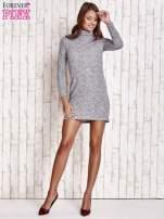 Szara melanżowa sukienka z golfem                                  zdj.                                  2