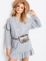 Szara sukienka Frills                                  zdj.                                  1