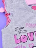 Szara sukienka dla dziewczynki HELLO KITTY                                  zdj.                                  3