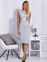 Szara sukienka z ananasami                                  zdj.                                  4