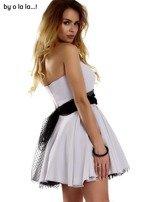 Szara sukienka z tiulowym wiązaniem BY O LA LA                                  zdj.                                  7