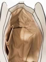 Szara torba z klamrami z odpinanym paskiem