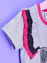 Szara tunika dla dziewczynki z nadrukiem FURBY                                  zdj.                                  6