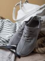 Szare buty sportowe z tkaniny textile Be Active z uchwytem z tyłu                                  zdj.                                  2