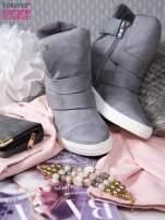 Szare zamszowe sneakersy bandage Quinn                                  zdj.                                  2