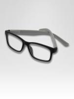 Szaro-czarne okulary zerówki kujonki typu WAYFARER NERDY matowe