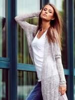 Szary długi sweter wzór melanżowy                                  zdj.                                  9
