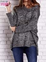 Szary melanżowy sweter oversize o kroju nietoperz                                  zdj.                                  1