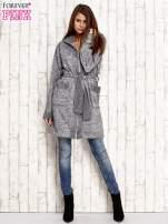 Szary melanżowy sweter z kapturem                                  zdj.                                  2