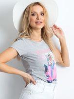 Szary t-shirt Invariably                                  zdj.                                  3