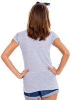 Szary t-shirt damski z napisem                                  zdj.                                  2