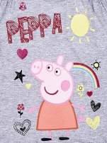 Szary t-shirt dla dziewczynki ŚWINKA PEPPA                                  zdj.                                  3