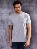 Szary t-shirt męski                                   zdj.                                  1