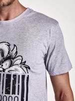 Szary t-shirt męski LOONEY TUNES                                  zdj.                                  7