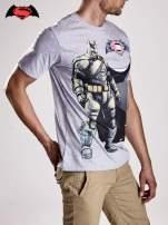 Szary t-shirt męski z nadrukiem BATMAN V SUPERMAN                                                                          zdj.                                                                         4
