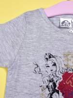 Szary t-shirt z koronką dla dziewczynki EVER AFTER HIGH