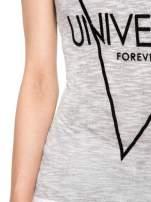 Szary t-shirt z nadrukiem UNIVERSITY FORVER                                  zdj.                                  6