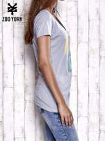 Szary t-shirt z nadrukiem ZOO YORK                                                                          zdj.                                                                         4
