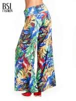 Szerokie spodnie culottes z egzotycznym nadrukiem                                  zdj.                                  4