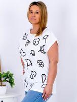T-shirt biały z nadrukiem PLUS SIZE                                  zdj.                                  3