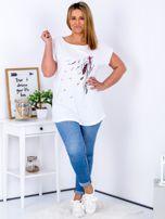 T-shirt biały z nadrukiem boho PLUS SIZE                                  zdj.                                  4
