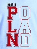T-shirt damski patriotyczny MADE IN POLAND niebieski                                  zdj.                                  2