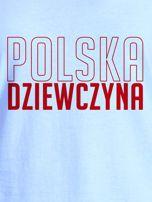 T-shirt damski patriotyczny POLSKA DZIEWCZYNA niebieski                                  zdj.                                  2