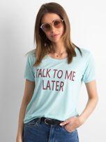 T-shirt damski z napisem miętowy                                  zdj.                                  1