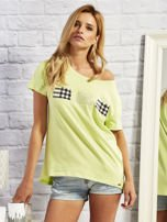 T-shirt z motywem torebek limonowy                                  zdj.                                  1