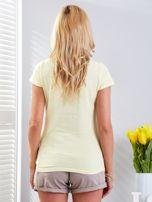 T-shirt żółty z motywem samochodu                                  zdj.                                  7