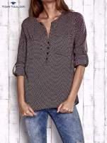 TOM TAILOR Bordowa koszula w drobne wzory