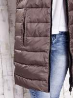 TOM TAILOR Brązowa dwustronna pikowana kurtka