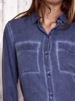 TOM TAILOR Ciemnoniebieska koszula acid wash