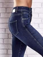 TOM TAILOR Ciemnoniebieskie przecierane spodnie jeansowe                                                                          zdj.                                                                         5