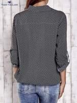 TOM TAILOR Czarna koszula z drobnym geometrycznym wzorem                                  zdj.                                  5