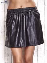 TOM TAILOR Czarna skórzana spódnica z kieszeniami                                  zdj.                                  4