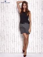 TOM TAILOR Czarna sukienka o kroju litery A                                                                          zdj.                                                                         2
