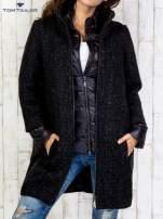 TOM TAILOR Czarny dwuczęściowy płaszcz z kurtką pikowaną                                  zdj.                                  1