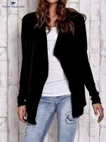TOM TAILOR Czarny luźny sweter z otwartym dekoltem                                  zdj.                                  1