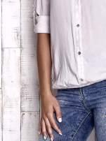 TOM TAILOR Ecru dekatyzowana koszula z podwijanymi rękawami                                  zdj.                                  6