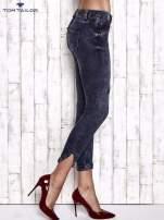 TOM TAILOR Granatowe przecierane jeansy                                                                          zdj.                                                                         2