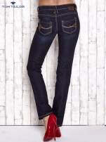 TOM TAILOR Granatowe spodnie jeansowe z prostą nogawką                                                                          zdj.                                                                         3