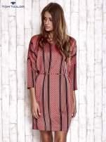 TOM TAILOR Koralowa graficzna sukienka z wiązaniem                                  zdj.                                  5