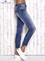 TOM TAILOR Niebieskie modułowe spodnie jeansowe                                  zdj.                                  3