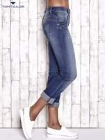 TOM TAILOR Niebieskie przecierane spodnie boyfriend jeans                                   zdj.                                  3