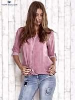 TOM TAILOR Różowa dekatyzowana koszula z podwijanymi rękawami                                                                          zdj.                                                                         3