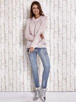 TOM TAILOR Różowy sweter z dodatkiem wełny z alpaki                                  zdj.                                  4